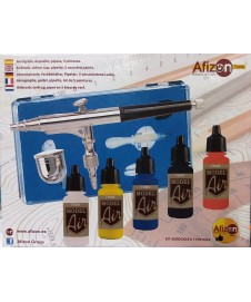Kit Aerografo Con Pinturas Vallejo Model Air