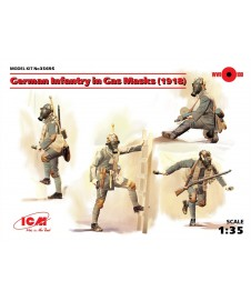 German Infantry In Gas Masks 1918