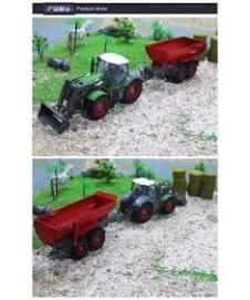 Tractor Rc. Con Pala Y Remolque