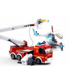 Camion Y Helicoptero Bomberos