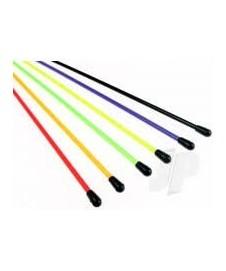 Tubo Antena Colores 6 Unds.