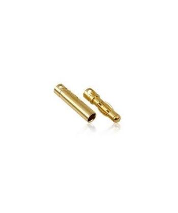 Conector Oro 4 Mm. Macho-hembra, Par