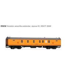 Coche Correos 4 Ejes Version Amarilla Std. E. Iv