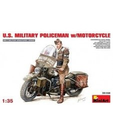 U.s. Military Policeman W. Motorcycle