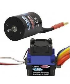 SET MOTOR Y VARIADOR BRUSHLESS PARA 1/10, 60 A.