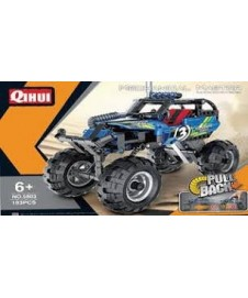 Coche Off-road Azul Pull Back 193p