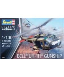 BELL UH-1H GUNSHIP. CON PINTURAS