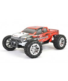 MONSTER FTX CARNAGE 2,0 1/10 4WD. BRUSHED RTR COMPLETO ROJO
