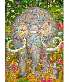 DEGANO ELEPHANTS LIFE 1000 P. TRIANGULAR