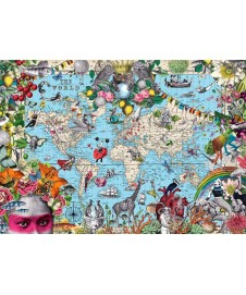MAP ART QUIRKY WORLD 2000 P.