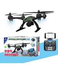 DRONE PREDATOR CON CAMARA HD. WIFI Y CONTRO ALTITUD, 45 X 45 CM.