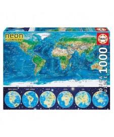 MAPAMUNDI FISICO NEON 1000 P.