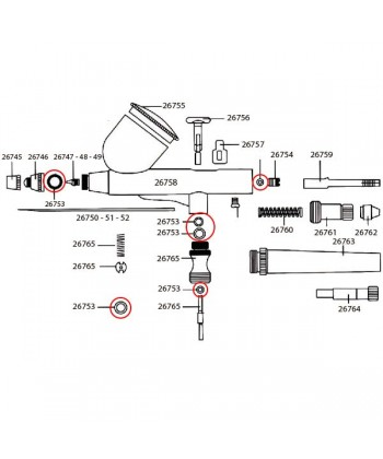 JUNTAS TORICAS AEROGRAFO D-102