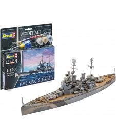 HMS KING GEORGE V 1/200 CON PINTURAS