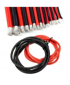 CABLE SILICONA 10 AWG ROJO NEGRO 50 CM
