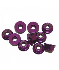 TUERCA AUTOB 4MM PURPURA
