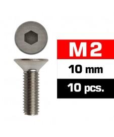 TORNILLO M2X10 AVELLANADO 10 UNIDADES