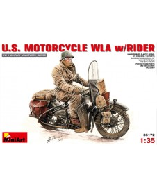 US. MOTORCYCLE WLA W/RIDER