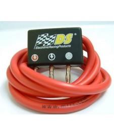Conector compacto con bananas + 1.5m. cable silicona