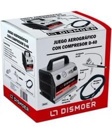 Set Aerografo Con Compresor Expert D-40